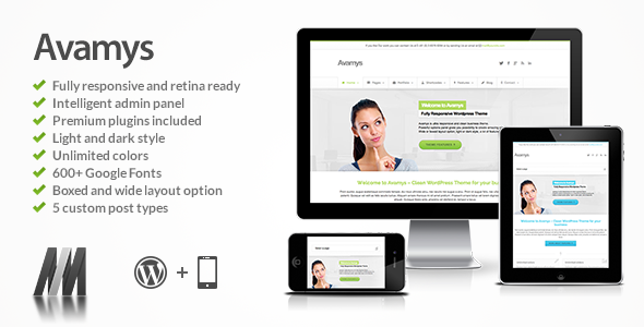 Avamys Responsive WordPress Theme