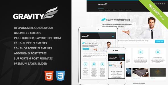 Gravity Fast Loading WordPress Theme