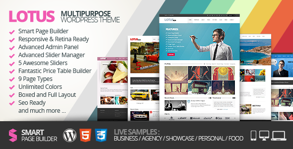 Lotus Responsive WordPress Theme