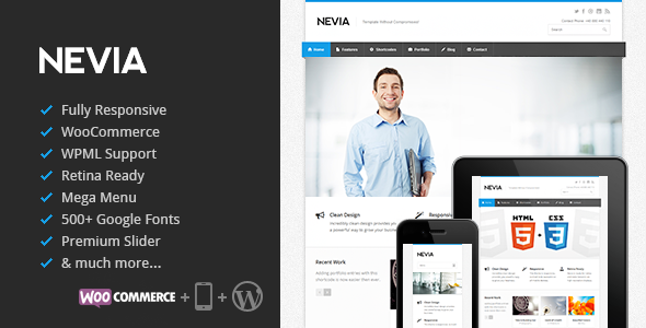Nevia Responsive WordPress Theme