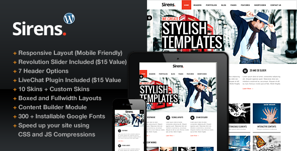 Sirens Responsive WordPress Theme