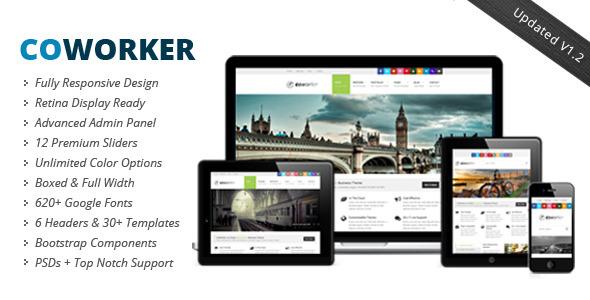 CoWorker Fast Loading WordPress Theme