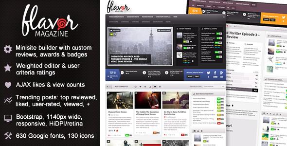 Flavor Responsive WordPress Theme