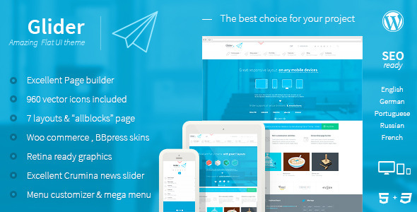 Glider Responsive WordPress Theme