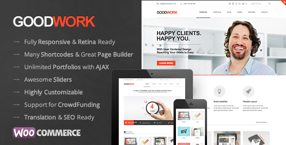 GoodWork Fast Loading WordPress Theme