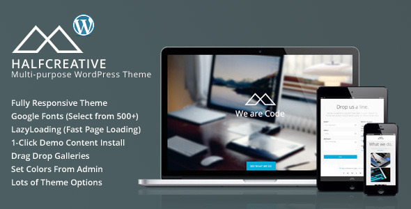 HalfCreative Fast Loading WordPress Theme