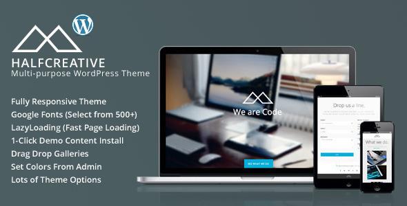 HalfCreative Fast Loading WordPress Theme
