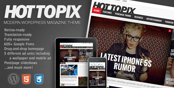 Hot Topix Responsive WordPress Theme