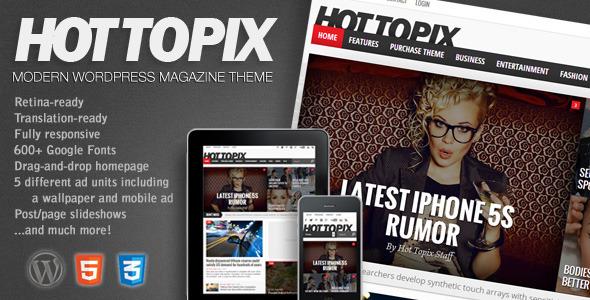 Hot Topix Responsive WordPress Theme