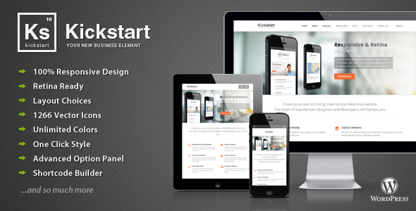 Kickstart Responsive WordPress Theme