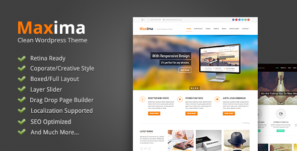 Maxima Responsive WordPress Theme