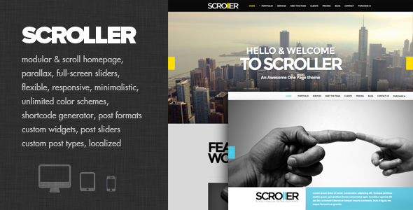 Scroller Fast Loading WordPress Theme