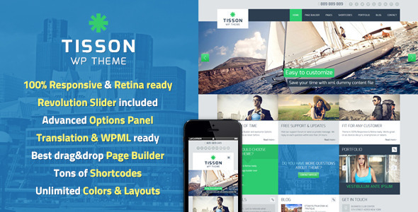 Tisson Responsive WordPress Theme