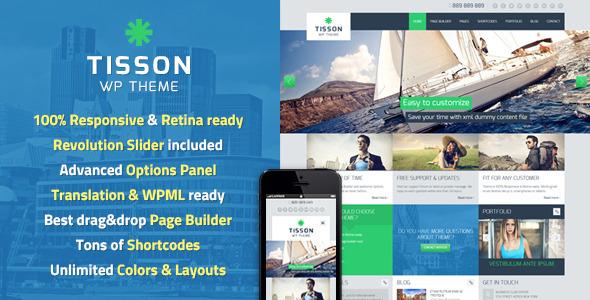 Tisson Responsive WordPress Theme