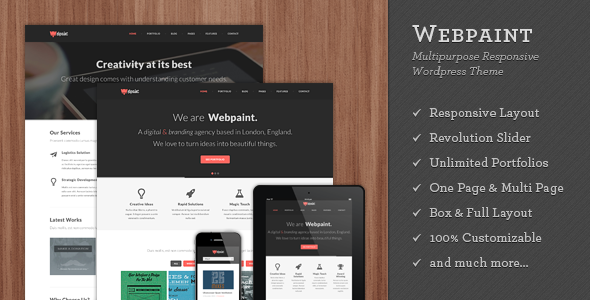 Webpaint Responsive WordPress Theme