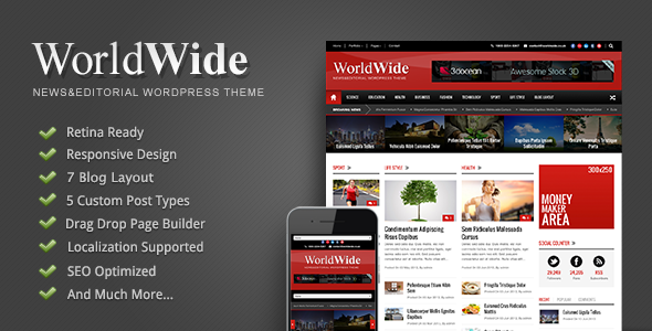 World Wide Responsive WordPress Theme