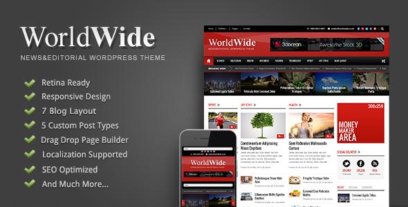 World Wide Responsive WordPress Theme