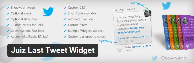 Juiz Last Tweet Widget WordPress Plugin
