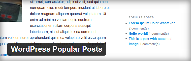 WordPress Popular Posts WordPress Plugin