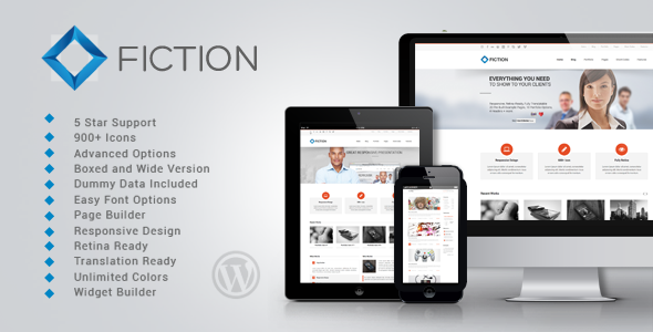 FICTION Fast Loading WordPress Theme