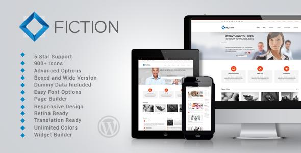 FICTION Fast Loading WordPress Theme