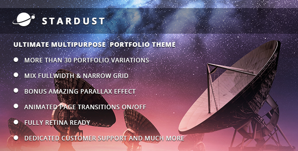 STARDUST Fast Loading WordPress Theme