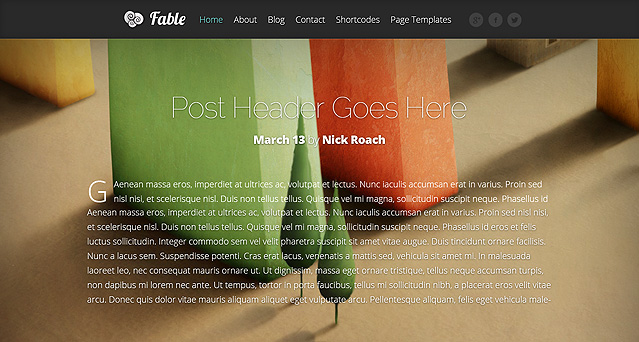 Fable Fast Loading WordPress Theme