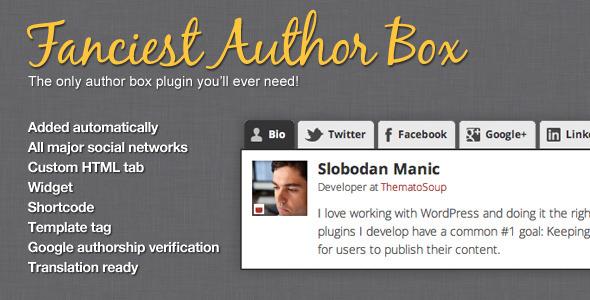 Fanciest Author Box Premium WordPress Plugin