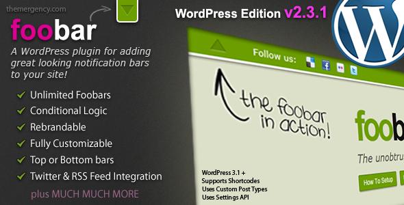 Foobar Premium WordPress Plugin
