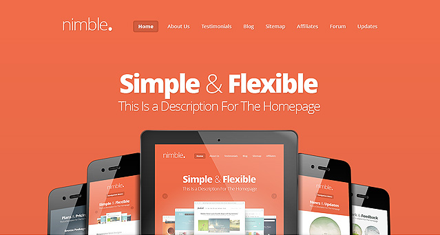 Nimble Fast Loading WordPress Theme