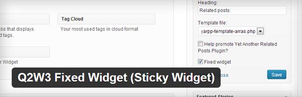 Q2W3 Fixed Widget (Sticky Widget) WordPress Plugin