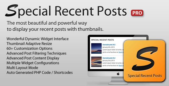 Special Recent Posts PRO Premium WordPress Plugin
