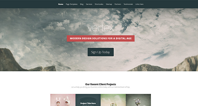 Vertex Fast Loading WordPress Theme