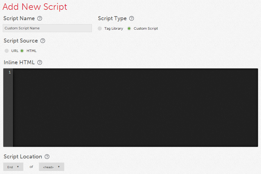 Custom Script Qubit Opentag Tag