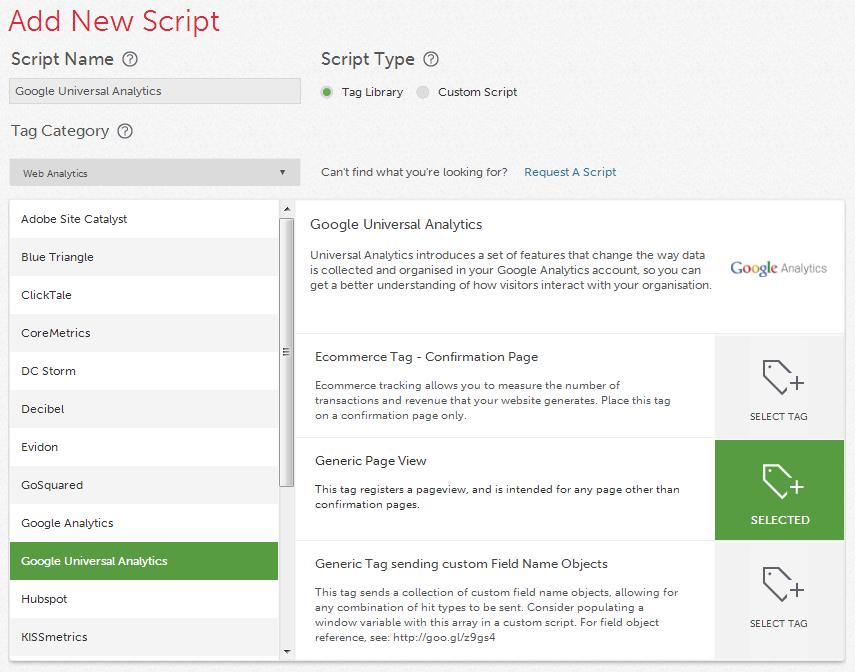 Google Analytics Qubit Opentag Tag Template