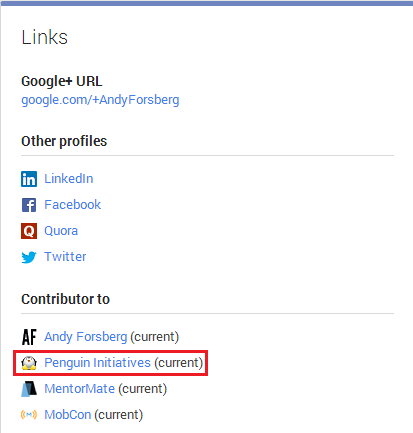 Google+ Profile Links