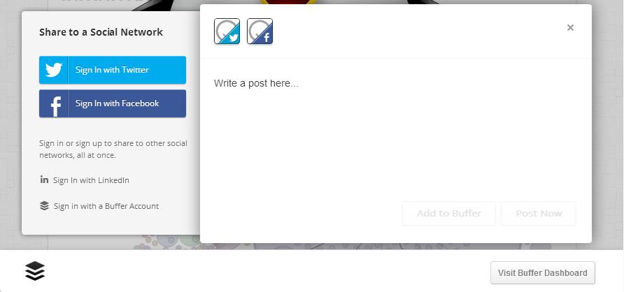 Buffer Chrome Extension Screenshot