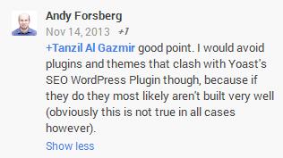 Google+ Tagged User Example Screenshot