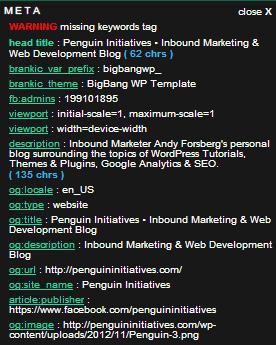 Meta SEO Inspector Chrome Extension Screenshot