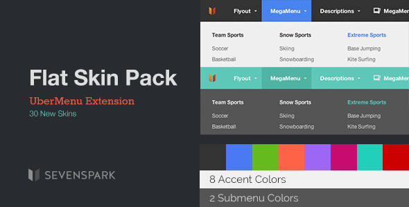 UberMenu Flat Skin Pack Premium WordPress Plugin