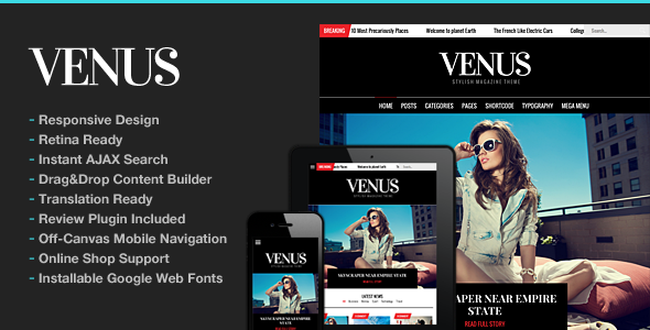 Venus WordPress Theme