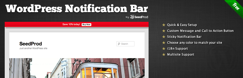 WordPress Notification Bar WordPress Plugin