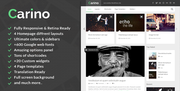 Carino Fastest WordPress Theme