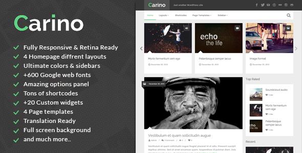 Carino Fastest WordPress Theme