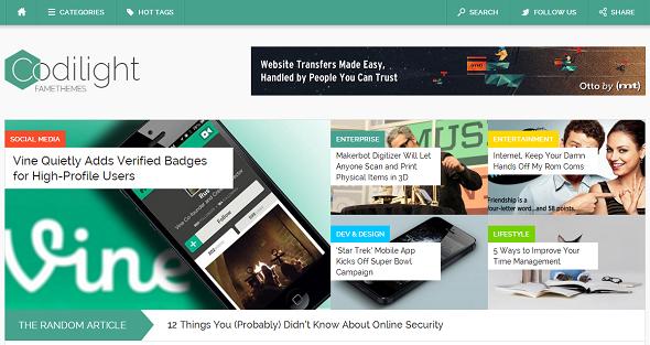 Codilight Fastest WordPress Theme