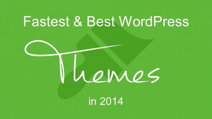 Fastest & Best WordPress Themes in 2014