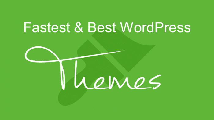 Fastest & Best WordPress Themes