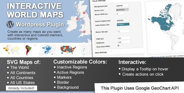 Interactive World Maps Premium WordPress Plugin