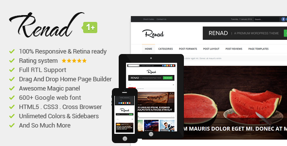 Renad Fastest WordPress Theme