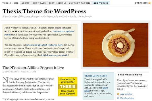 Thesis Fastest WordPress Theme